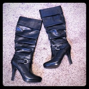 Black boots with heel. Women's size 8.